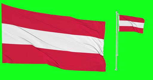 Austria green screen two flags green screen waving green screen Austria austrian flagpole austrian Animation