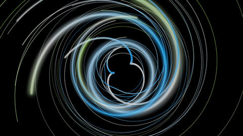 Fantastic eco video animation with stripe object in motion, loop HD Animation