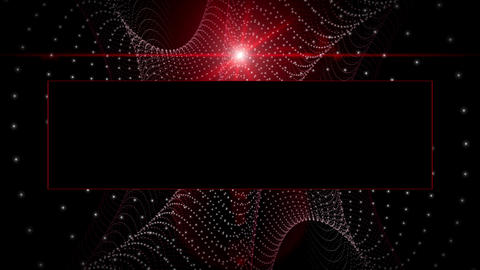 Futuristic video animation particle stripe object and light in motion with space for your text, loop Animation