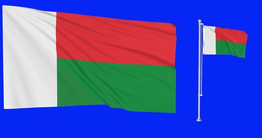 Madagascar flagpole madagascan flagpole flag flagpole Madagascar waving madagascan waving flag Animation