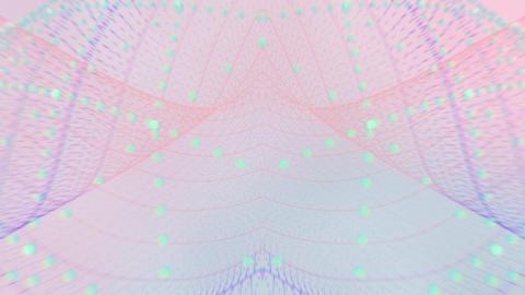 VJ CG 点の集合 ネット ループ CG動画
