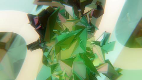 VJ CG 構造体回転 グリーン ループ CG動画