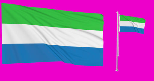 Sierra Leone waving leonean waving two flags waving Sierra Leone green screen leonean green screen Animation
