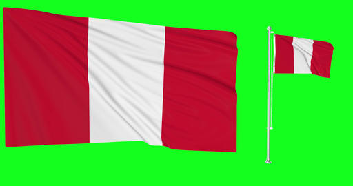 Peru waving peruvian waving two flags waving Peru green screen peruvian green screen flag green Animation