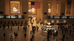Timelapse of busy people rush in Grand Central NYC New York City Footage