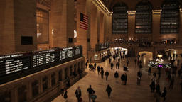 Timelapse of crowd of people hurry in Grand Central NYC New York City Footage