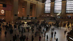 Busy people rush timelapse Grand Central station NYC New York City Footage