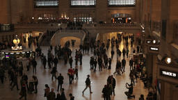 Lot of busy people running timelapse Grand Central NYC New York City Footage