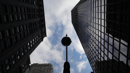 Sky clouds timelapse over skyscrapers in NYC New York City Manhattan Footage