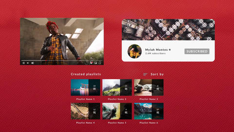 YouTube Social Media Elements Premiere Pro Template