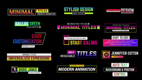 Minimal Creative Titles After Effects Template