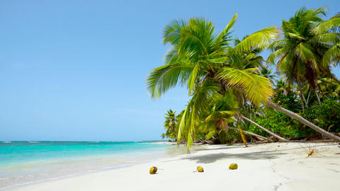 Holiday on wild Malaysia beach. Clear turquoise sea and beach background Live Action