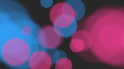 Animation fly abstract blue and red bokeh and particles on shiny background Animation
