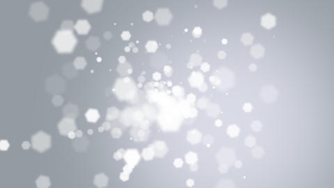 Animation fly abstract white bokeh and particles on shiny background Animation