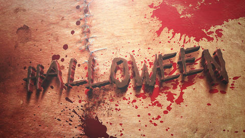 Animation text Halloween and mystical horror background with dark blood, abstract backdrop Animation