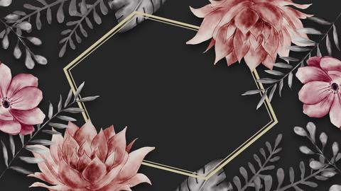 Botanical 0202 loop 097-192f gray frame 애니메이션