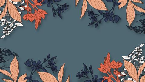 Botanical 0207 loop 097-192f plants frame orange Animation