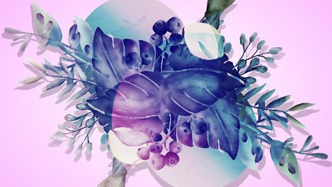 Botanical 0208 loop 097-192f plants jump out purple 애니메이션