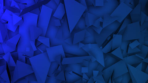 Motion dark blue triangles shapes, abstract geometric background Animation