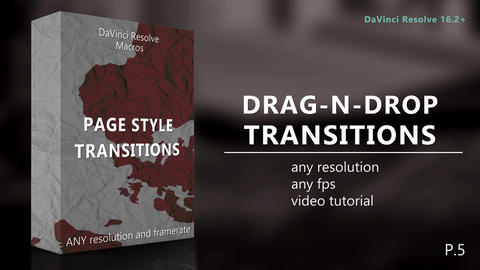 Drag-N-Drop Page Style Transitions