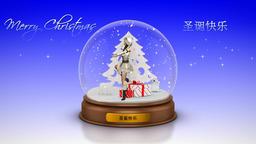 NR364 Christmas Globe Animation