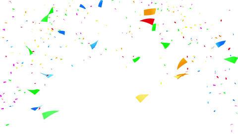 Confetti 2 Move 3LW 4K CG動画素材