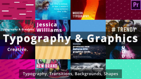 Typography and Graphics Motion Graphics Template