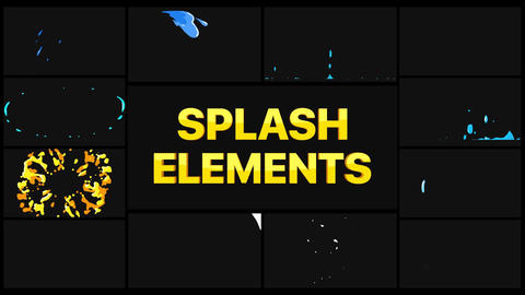 Splash Elements Apple Motion Template