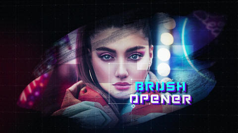 Brush Opener After Effects Template
