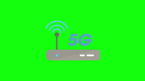 router line 5g icon line signal antenna line router logo 5g logo antenna logo router speed 5g speed Animation