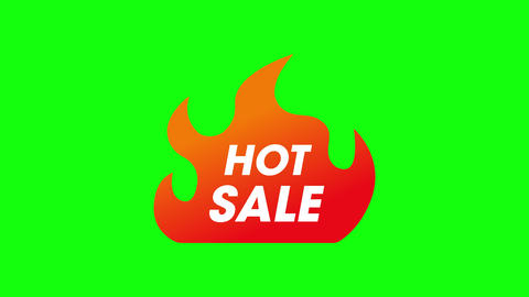 hot icon sale icon discount icon hot promotion sale promotion discount promotion hot fire sale fire Animation