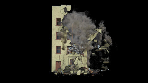 Part of an Apartment Collapsing Animation