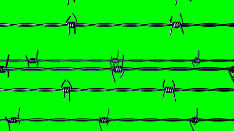 Steel barbed wire animation Animation