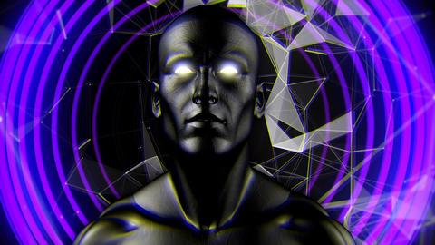 Head shaking purple circles Animation