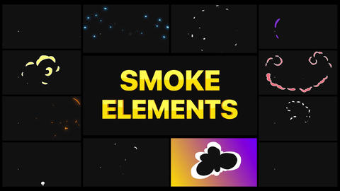 Smoke Elements After Effects Template