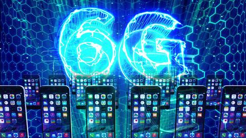 6G インターネット スマートフォン ネットワーク ループ アニメーション CG動画