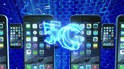 5G internet smart phone network loop animation Animation