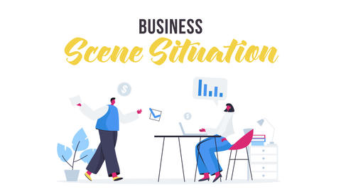 Business - Scene Situation After Effects Template