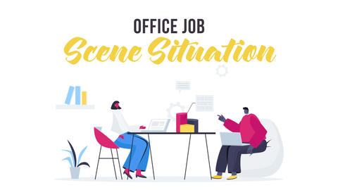Office job - Scene Situation After Effects Template