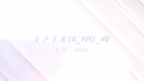 Opener.Full-HD. 50 photos After Effects Template
