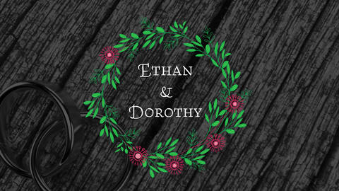 Floral Wedding Titles After Effects Template