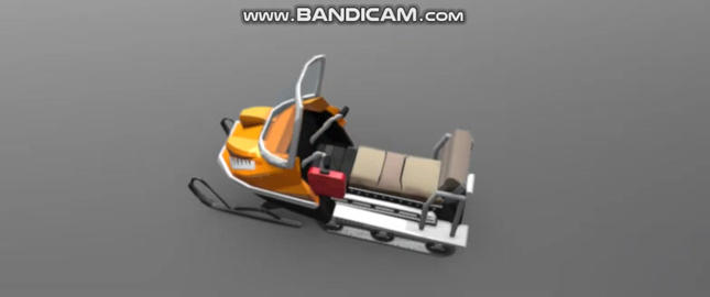 snow vehicle 3D Model