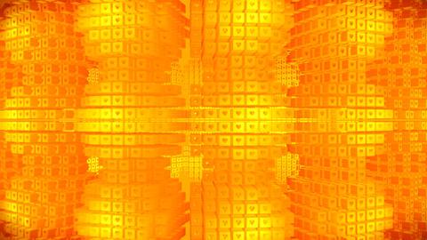 Broadcast Rotating Hi-Tech Cubes Grid Matrix, Gold, Technology, 3D, Loopable, HD Animation