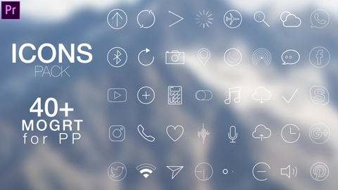 Icons Motion Graphics Template