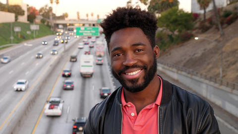 Portrait of a African-American man in Los Angeles Live Action