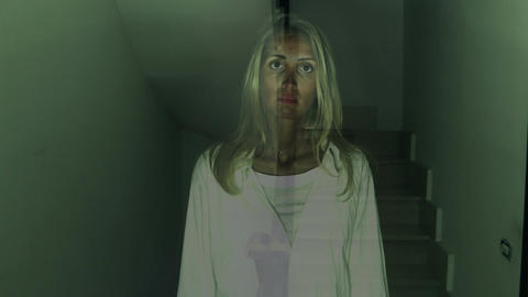 scary ghost woman Footage