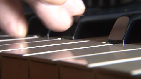 Piano key closeup Footage