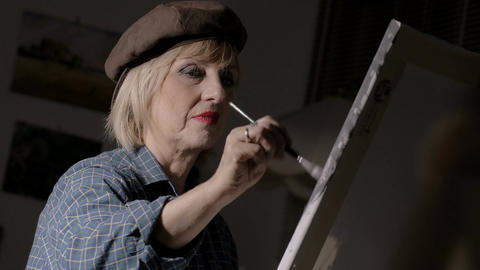 woman painting Footage