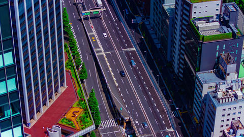 A timelapse of traffic jam on the highway at the urban city in Tokyo long shot Live Action