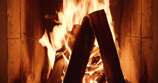 fireplace with fire ライブ動画